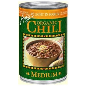 Amy's Medium Chili, Light in Sodium, Organic - 14.7 ozs.