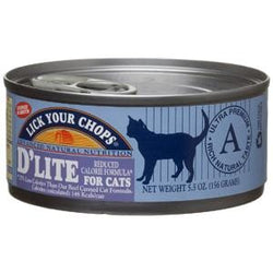 Lick Your Chops Cat Food, Canned, D'Lite, Reduced Calorie - 5.5 ozs.