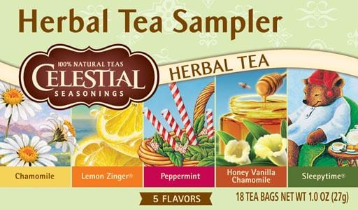 Celestial Seasonings Herbal Tea Sampler - 1 box