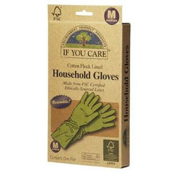 If You Care Household Gloves, Cotton Flock Lined, Medium - 12 x 1 pair