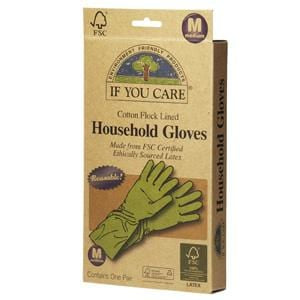 If You Care Household Gloves, Cotton Flock Lined, Medium - 1 pair