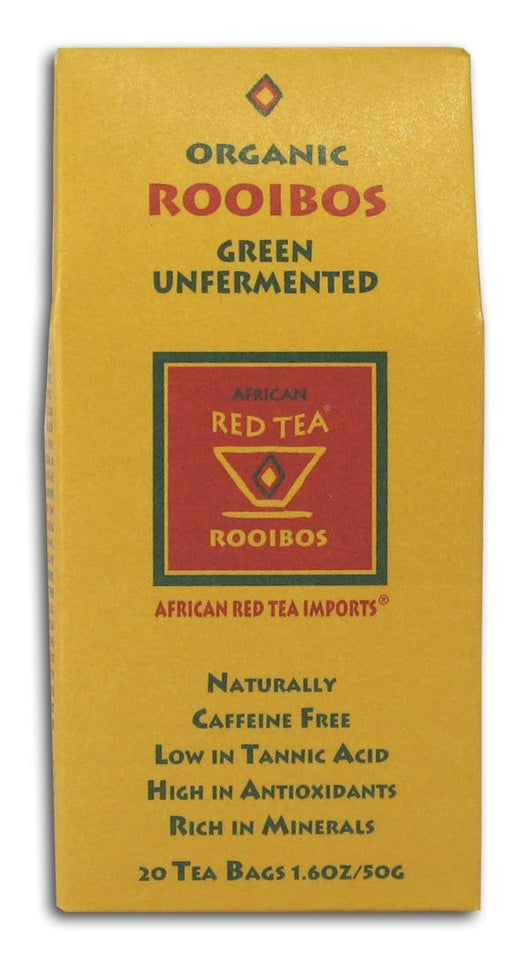 African Red Tea Rooibos Green Tea Unfermented Organic - 12 x 1 box