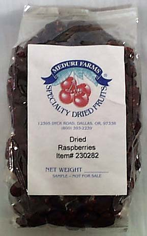 Meduri Farms Raspberries Dried - 8 ozs.