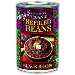 Amy's Refried Black Beans, Organic - 15.4 ozs