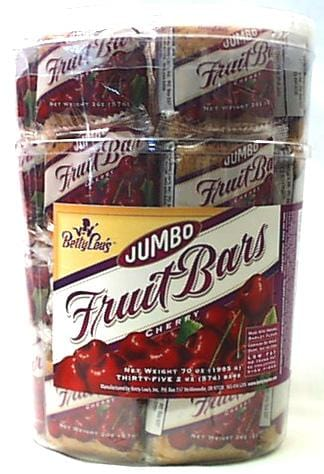 Betty Lou's Wheat Free Cherry Bars - Jar of 35