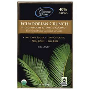Coconut Secret Chocolate Crunch Bar, Ecuadorian Milk, Organic - 12 x 2.25 oz