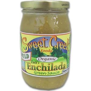 Sweet Creek Foods Enchilada Green Sauce, Mild, Organic - 16 ozs.