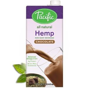 Pacific Foods Hemp Milk, Chocolate, All Natural - 12 x 32 oz