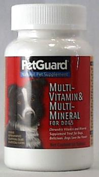 PetGuard Multi Vitamin / Mineral Supplement for Dogs - 50 ct.