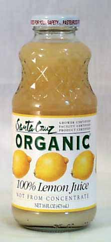 Santa Cruz Lemon Juice 100% Organic - 16 ozs.
