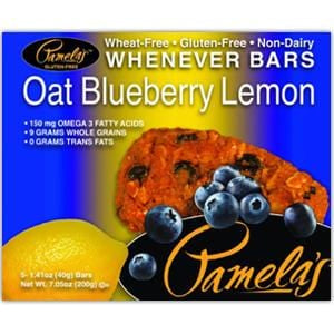 Pamela's Whenever Bars, Oat Blueberry Lemon - 6 x 7.05 ozs.