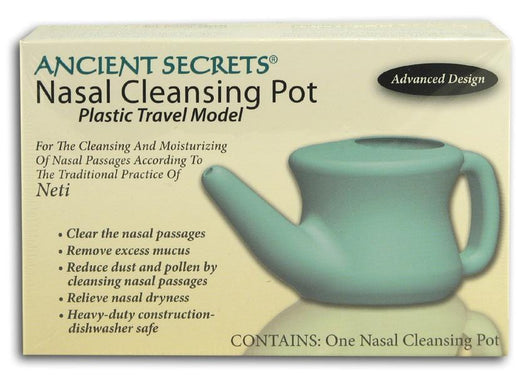 Ancient Secrets Nasal Cleansing Pot Plastic (for travel) - 12 x 1 pot