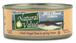Natural Value Tongol Tuna Salted - 6 ozs.
