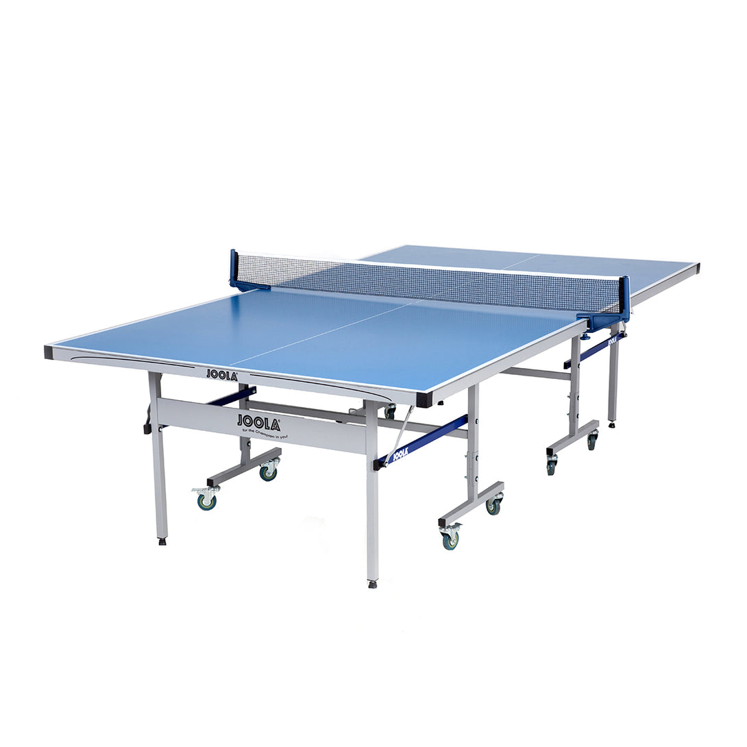 JOOLA Drive Indoor/Outdoor Table Tennis Table with Weatherproof Net Set - Game Room Lounge Table Tennis, Joola