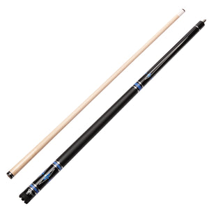 Viper Sinister Series Cue with Black Faux Leather Wrap - Game Room Lounge Cue Stick, Viper