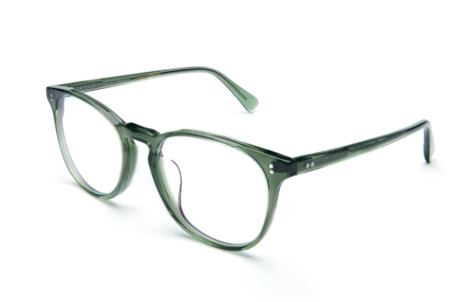 Rocket MTO P3 Classic Hunter Green Clear Glasses (Launch Edition)