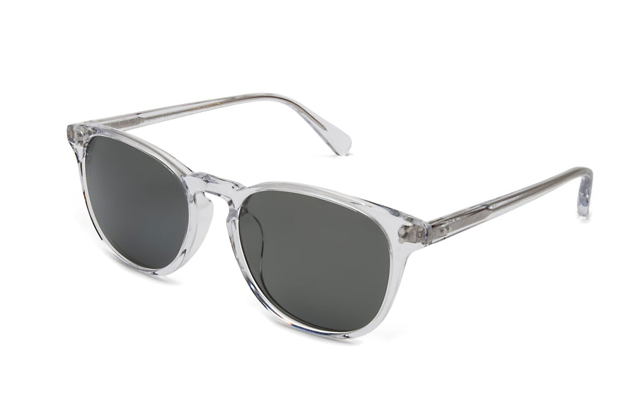 Rocket Eyewear Company P3 Classic Sunglasses Crystal with Grey polarized lenses