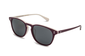 Rocket Eyewear Company P3 Classic Sunglasses Crimson Linen with Grey polarized lenses