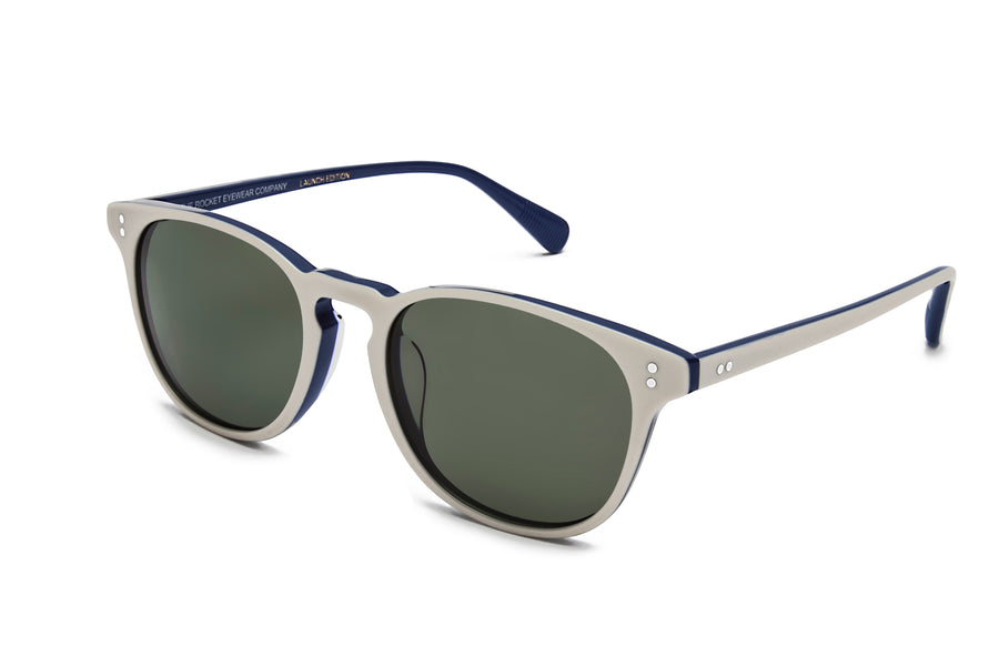 Rocket P3 Classic Ivory/Navy with Green Polarized Lenses (Launch Edition)