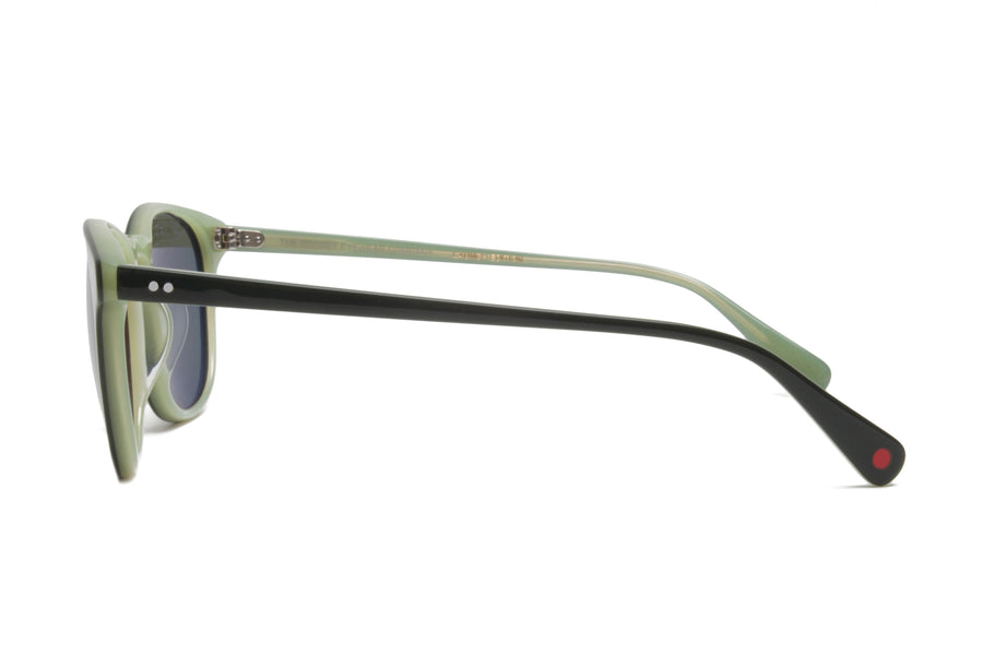 Rocket Eyewear Company P3 Classic Sunglasses Emerald Pea Green with Green polarized lenses