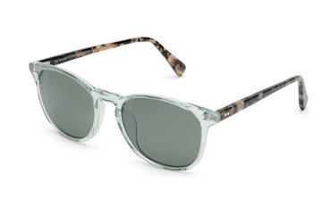 Rocket MTO P3 Classic Sage Crystal & Jaggery Tortoise with Green Polarized Lenses (Tortoise Returns)