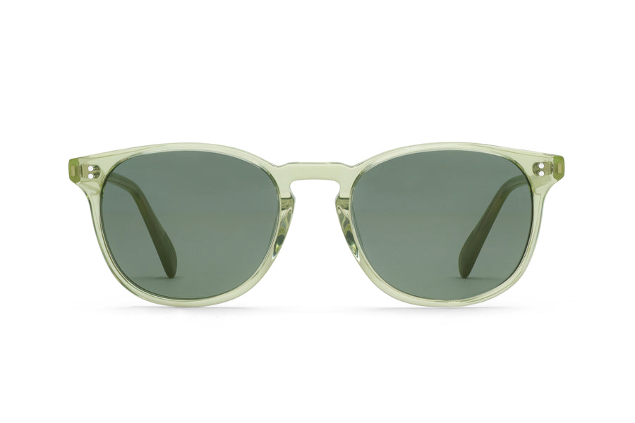 Rocket MTO P3 Classic Sencha Crystal & Leaf with Green Polarized Lenses (Tortoise Returns)