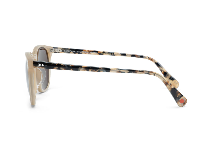 Rocket MTO P3 Classic Mother's Pearl & Chin Chow Tortoise with Brown Polarized Lenses (Tortoise and Crystal)