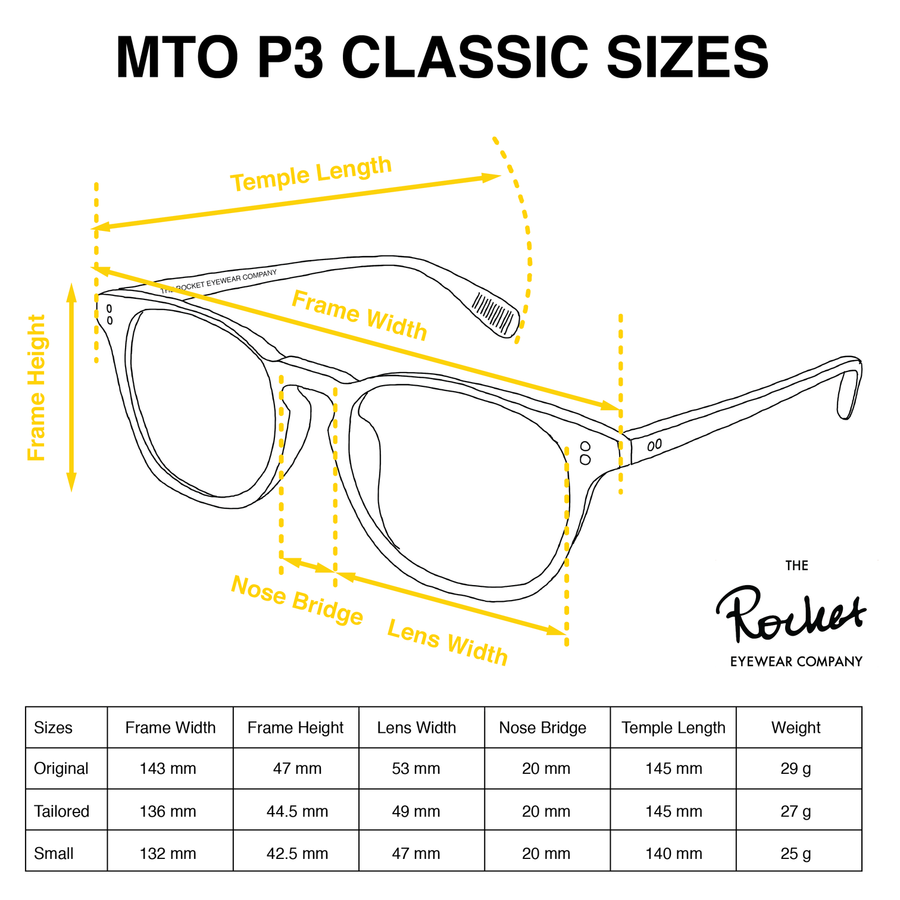 Rocket MTO P3 Classic Amber Tortoise Glasses (Launch Edition)