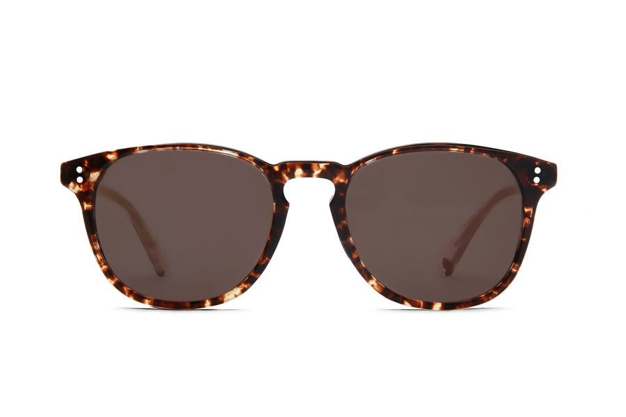 Rocket MTO P3 Classic Caviar Tortoise & Rosé with Brown Polarized Lenses (Tortoise and Crystal)