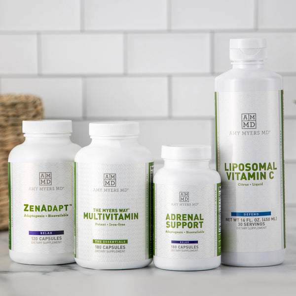 Adrenal Fatigue Kit - Multivitamin, Liposomal Vitamin C, Adrenal Support, AdaptoZen Supplements - Amy Myers MD®