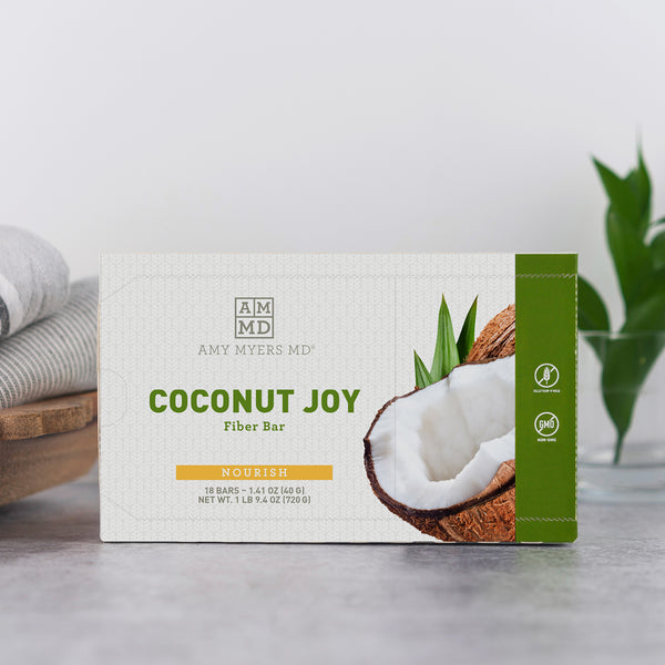 Coconut Joy Protein Fiber Bars - Featured Product Image - Amy Myers MD®