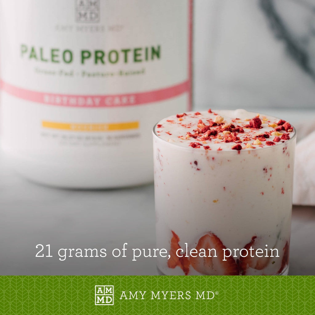 Birthday Cake Smoothie - 21 grams of Pure, Clean Paleo Protein  - Amy Myers MD®