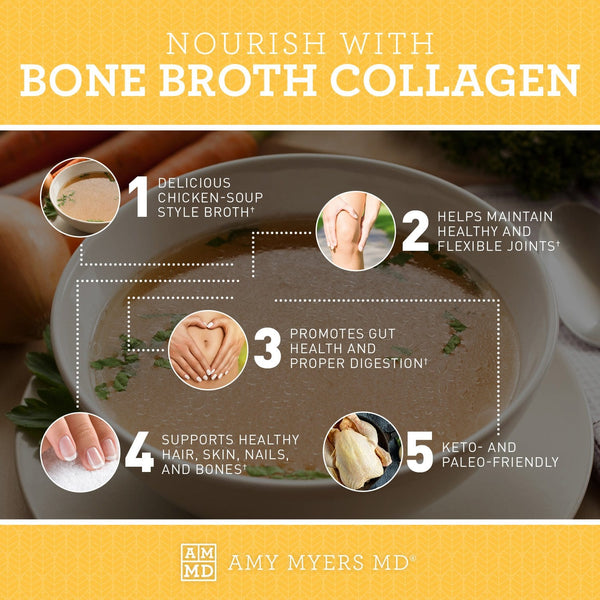 Bone Broth Collagen Infographic - Amy Myers MD®