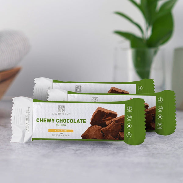 3 Packages of Double Chocolate Brownie collagen protein bars - Amy Myers MD®
