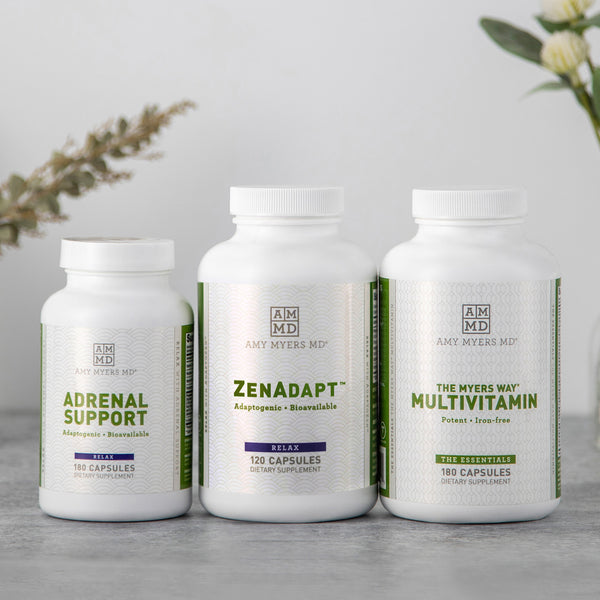 Hashimoto's Disease Support Plus Kit for Optimal Thyroid Health and Immune Function - ZenAdapt, Adrenal Support, The Myers Way® Multivitamin - Amy Myers MD®