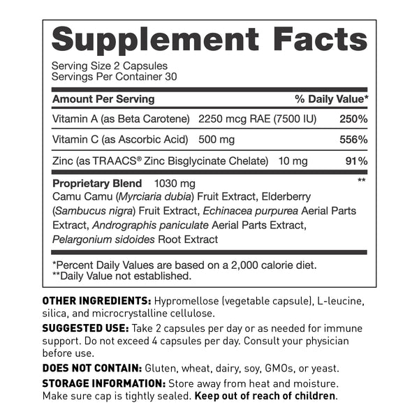 ImmuneSynergy™ Immune Support - Supplement Facts - Amy Myers MD®