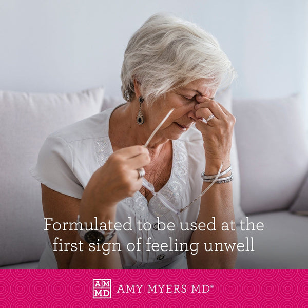 ImmuneSynergy™ is formulated to be used at the first sign oif feeling unwell - Amy Myers MD®