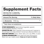 L-Glutamine supplement, 850 mg - Supplement Facts - Amy Myers MD®