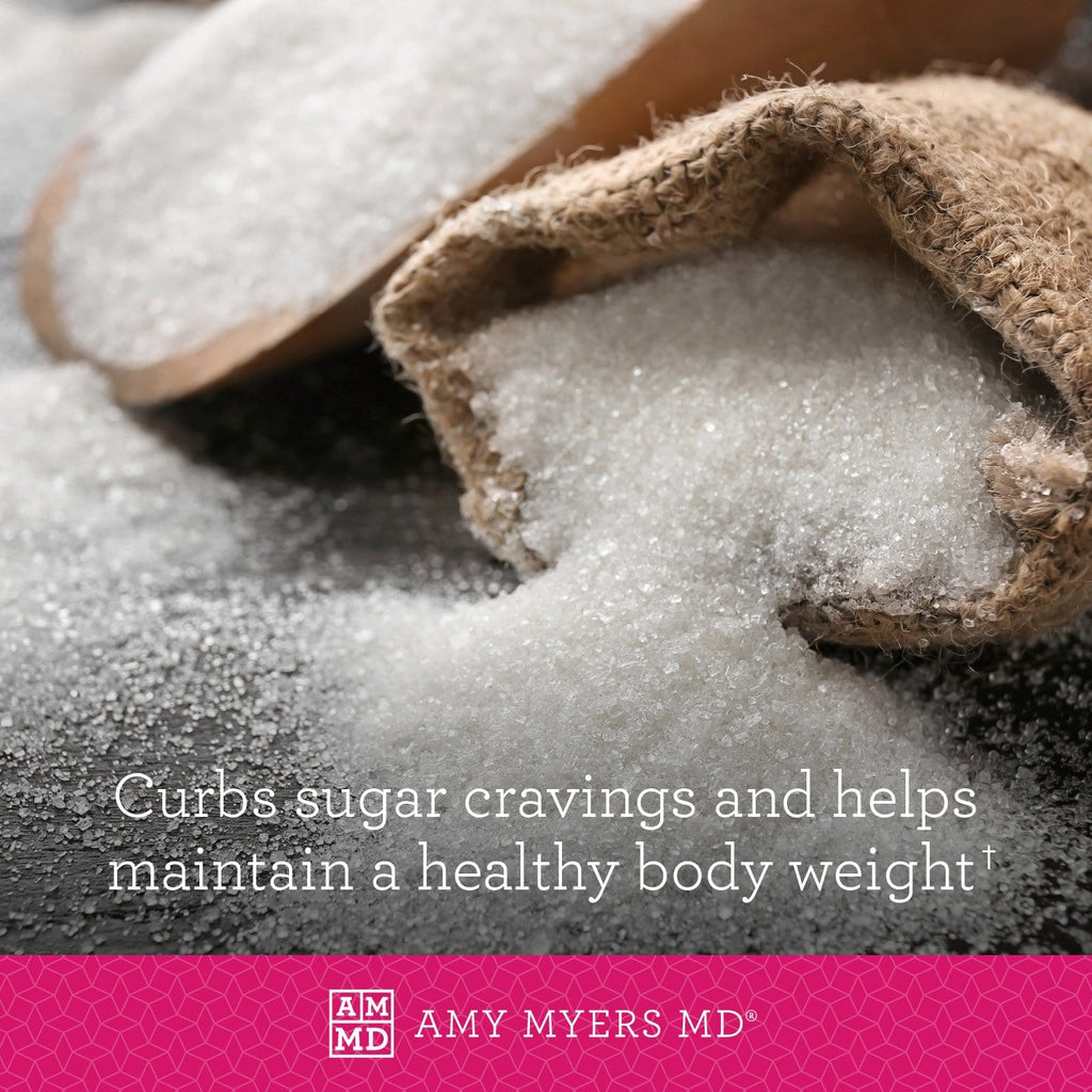L-Glutamine supplement curbs sugar craving and helps maintain a healthy body weight - Amy Myers MD®