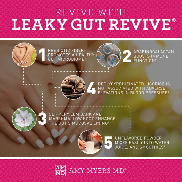 5 ways you can revive with Leaky Gut Revive® - Infographic - Amy Myers MD®