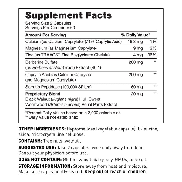 Microb clear supplement for gut health supplement facts - Amy Myers MD®