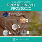 5 features of our Primal Earth™ Probiotic to help you maintain balance  - Infographic - Amy Myers MD®