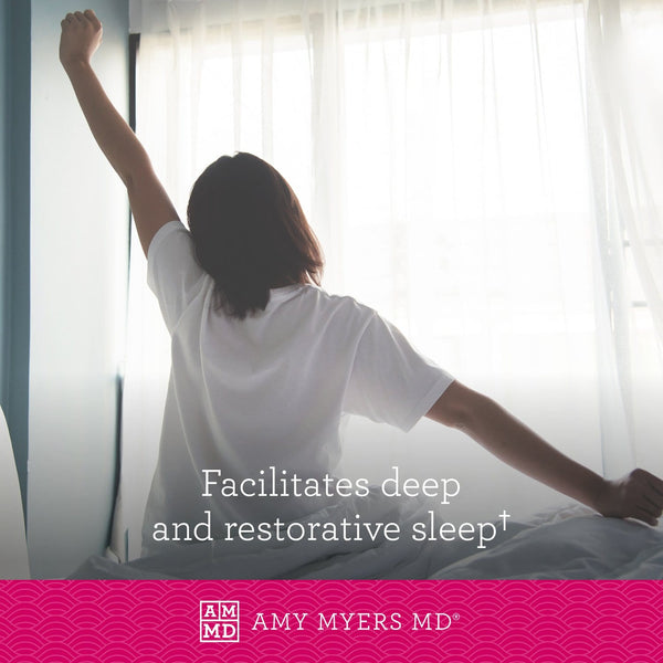 Woman waking up - Rest and Restore™ facilitates deep and restorative sleep - Amy Myers MD®