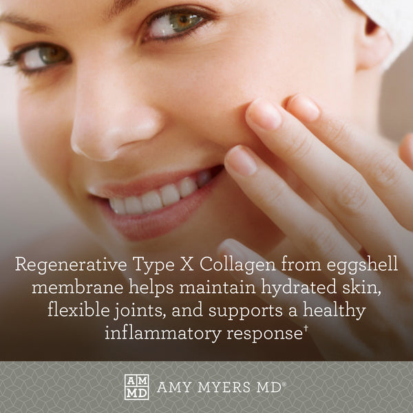 Spectrum 5 Collagen™ - Image of A Woman's Face - Type X Collagen - Eggshell Membrane - Amy Myers MD