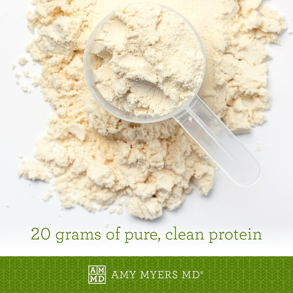 Paleo Protein powder and cup - Vanilla Bean flavor - 20 grams of pure, clean protein - Amy Myers MD®