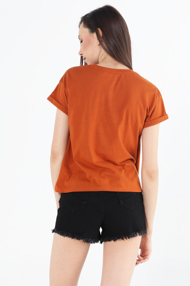 Boxy Fit Tee With Pocket