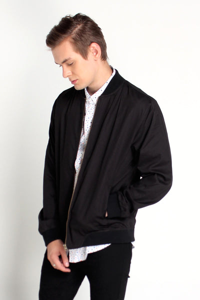 Bomber Jacket With Cut & Sew Panel