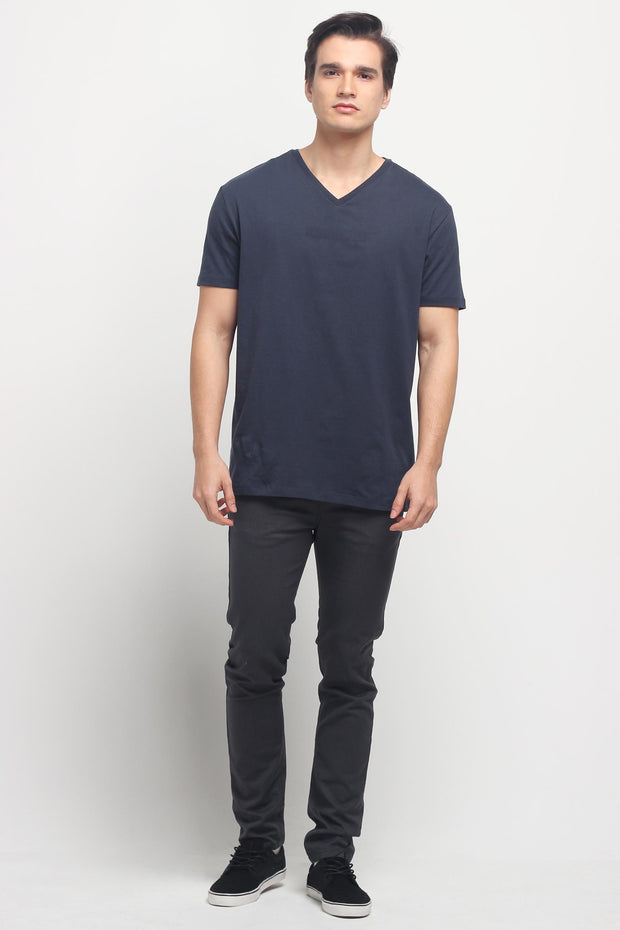 Relaxed Fit V-Neck Tee