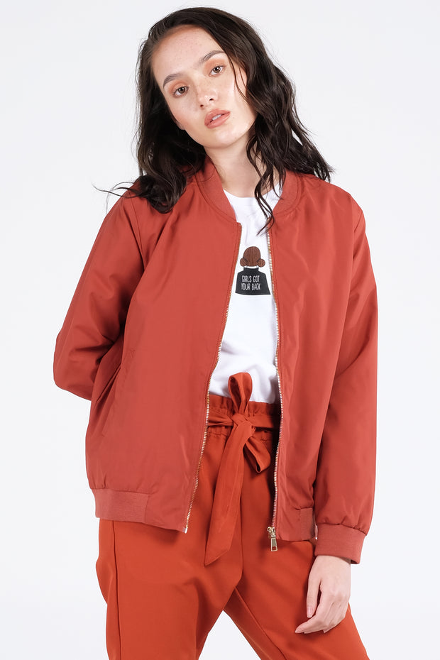 The Dress Code Nylon Bomber Jacket