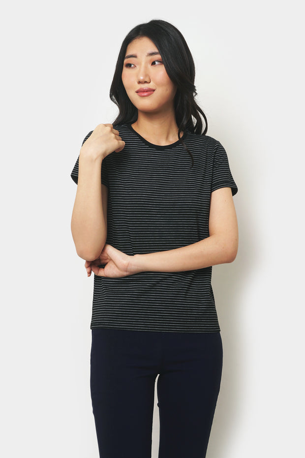 Striped Round Neck Tee